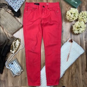 J.crew Woman toothpick color red denim